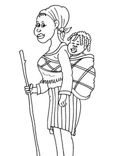 Free coloring page coloring-adult-africa-abstract-symbols