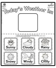 1000+ ideas about Preschool Weather Chart on Pinterest