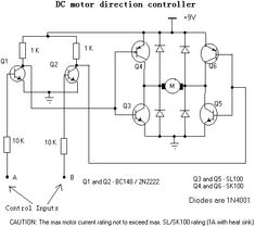 Two Speeds, Two Directions Motor Control & Power Diagram