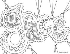 pray, adult religious coloring page (I want to do this for