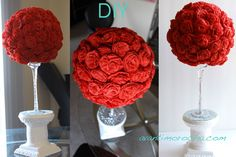 DIY Paper Rose Topia