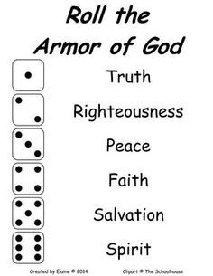 Printable Armor of God card game I created for my older