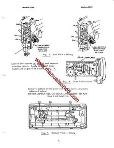Janome 134D Sewing Machine Service Manual. Includes