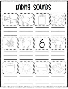 Beginning Ending Sounds Worksheet with CVC words (Free