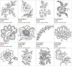 Flower embroidery, Embroidery patterns and Embroidery on