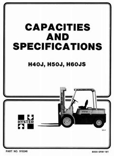 Hyster Electric Forklift Truck Type C098: E70XL3,E80XL3