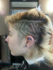 spider web hair design creations