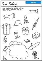 Worksheets from the first lesson in my Safety Unit. We