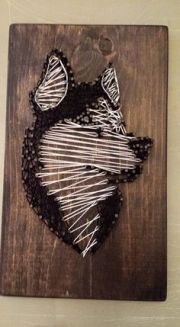 custom string art - dog beagle