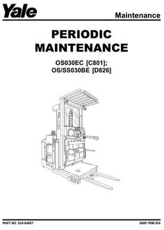 Yale Pallet Truck: MCW020, MCW040 Workshop Service Manual