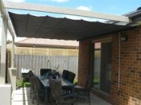 Metal framed pergola with Roll Up Sun Shade For Deck | DIY ...