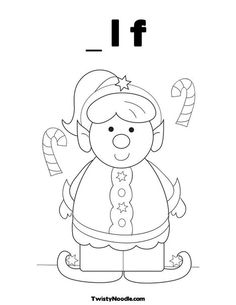 Christmas elf, Elves and Coloring pages on Pinterest