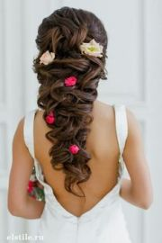 bride's braided updo with side