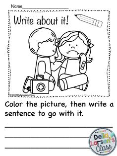 Writing prompts, Kindergarten writing and Visual cue on