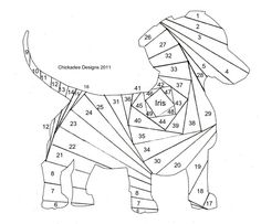 Dachshund pattern. Use the printable outline for crafts