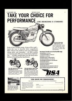 During 1967 the 250 cc C15 was replaced by the BSA B25