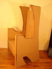 Cardboard throne   cardboard   Pinterest   Back to, The ...
