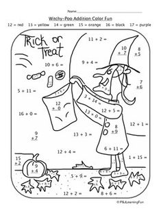 Check out this addition Halloween mystery picture activity