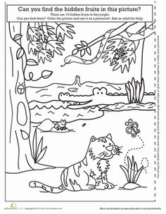 Color by numbers, Worksheets and Lion on Pinterest