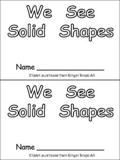 1000+ images about Kindergarten--Math--3-D Shapes on