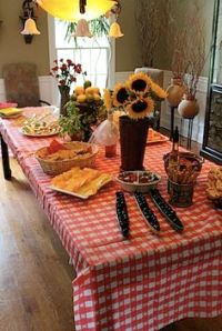 country picnic theme bridal shower | bridal shower country ...