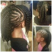 1000 kids braids