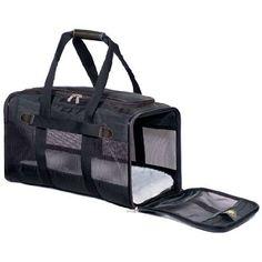 sherpa deluxe original pet dog cat carrier bag crate medium black airline approved
