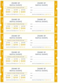 15 Free Raffle Ticket Templates. Follow these steps to ...