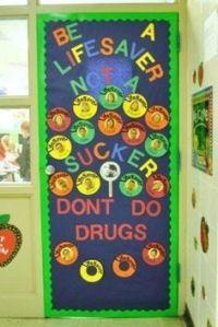 Red Ribbon Week door decoration | Teaching | Pinterest ...