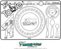 Printables to Color {April Placemats for Kids