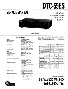Sony TCD-D10-PK DAT Upgrade Kit Service Manual (for models