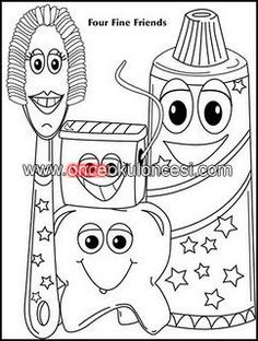 Pages to color, Coloring pages and Teeth on Pinterest