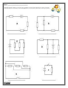 grade 9 circuit diagram worksheet