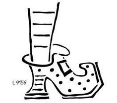 Witch Shoe Template