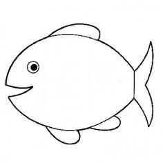 Coloriage : Un gros et un petit poisson qui font des