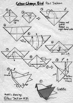 Origami, Easy origami and Ducks on Pinterest