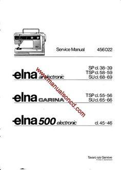 Elna 500 Sewing Machine Service Manual. Models: ELNA AIR