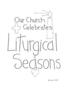 Look to Him and be Radiant: The Liturgical Year Coloring