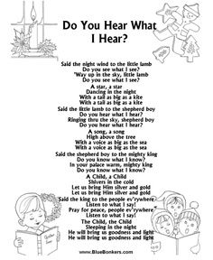 Printable Christmas Carol Lyrics sheet : Feliz Navidad