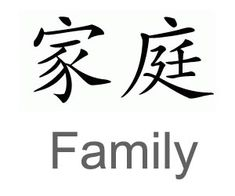 Chinese symbol for family. Gonna get this tattoo. Don't