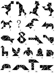 Here are three fun facts about tangrams: 1) There are