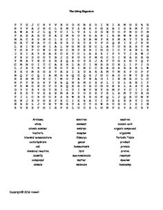 Skin, Bone, and Muscles Word Search for Middle School