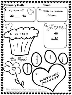 Valentines Day Math, Games, Puzzles and Brain Teasers from