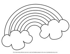 Rainbow Coloring Page ~ Kids dream of rainbows with pots