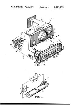 Cazin Design For A Camera 1940. This blueprint frame on a