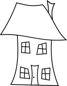 House pattern. Use the printable outline for crafts