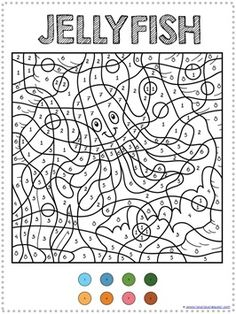 Color by numbers, Coloring pages for teenagers and