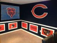 Chicago Bears Football Handmade Distressed Wood Wall Art ...