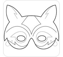 Shark mask templates including a coloring page version of