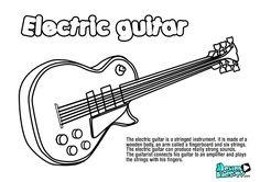 Pintas instrumentos musica GUITARRA, recursos educativos